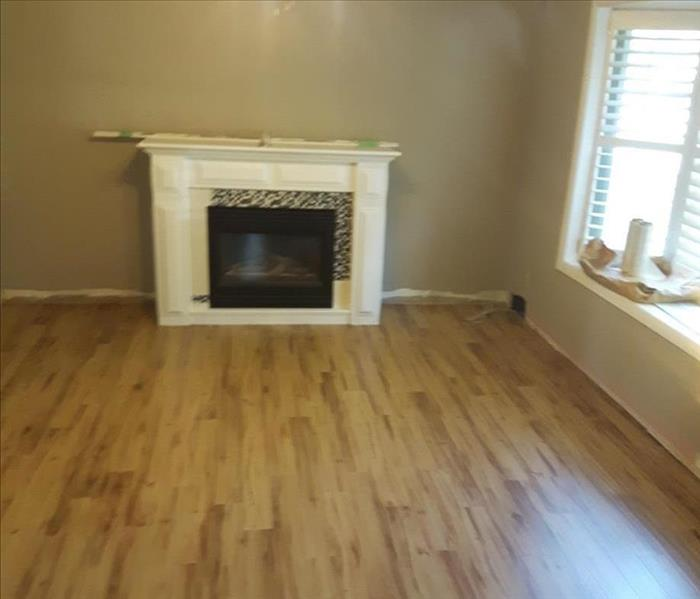 picture of living room hardwood and fireplace