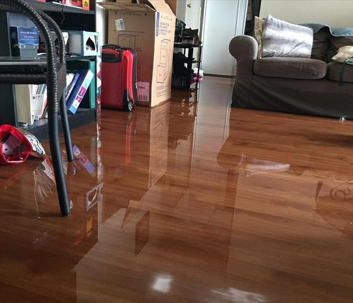 floor covered in water