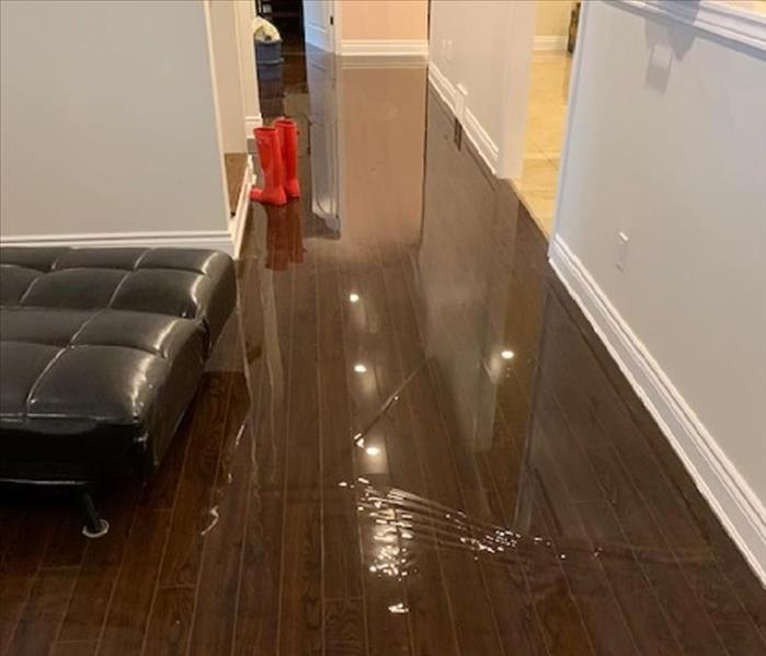 Water on laminate floor