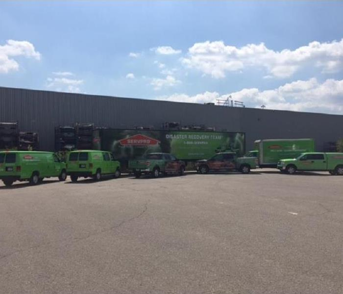 picture of the SERVPRO vehicles in our parking lot