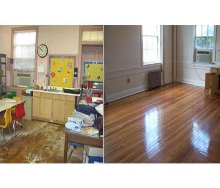 Before / After of classroom