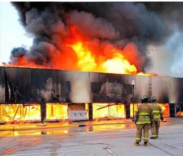 Fire at a Shopping Plaza